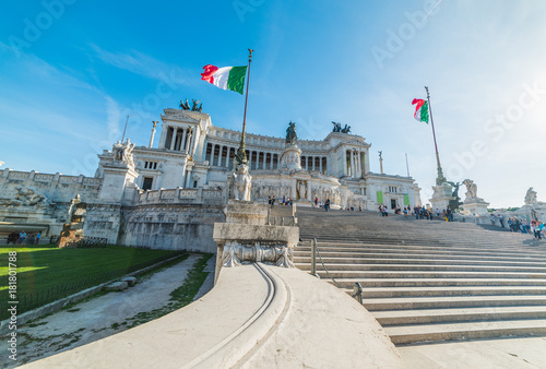 Altar of the fatherland on a sunny day in Rome
