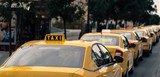 Fototapety yellow cars of the city taxi