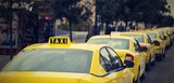 yellow cars of the city taxi - 181803714