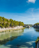 Tiber river on a clear day in Rome - 181804934