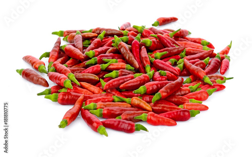 Tuinposter Hot chili peppers chili pepper isolated on white