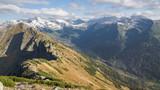 Jesień w Tatrach / widok z Czerwonych Wierchów w kierunku Tatr Wysokich