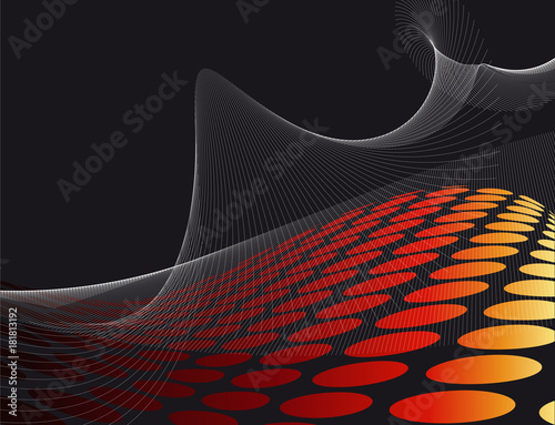 In de dag Abstract wave Fond pour illustration