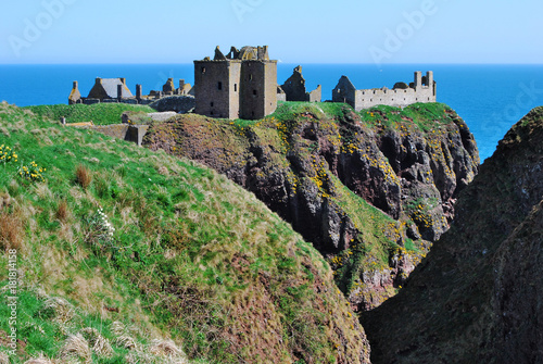 Fotobehang Grijze traf. Dunnottar Castle, Scotland, UK