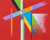 An original hard-edged geometric abstract painting.
