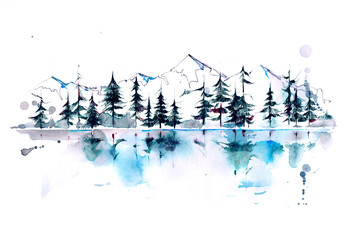 mountain forest © okalinichenko