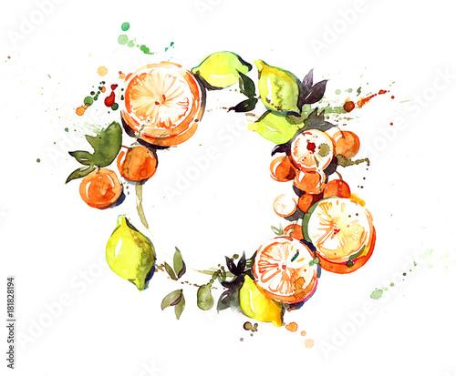 Foto op Aluminium Schilderingen citrus,
