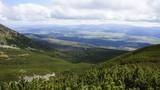 Widok na Słowacje ze zbocza Krywaniu