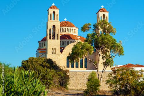 In de dag Cyprus Agioi Anargyroi church in Paphos, Cyprus