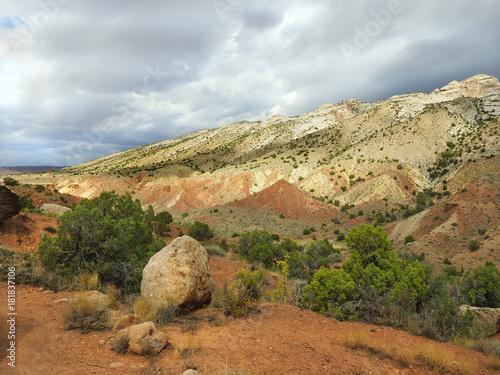 Plagát Multicolored Landscape of Dinosaur National Monument