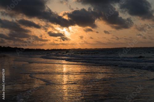 Poster Zee zonsondergang romantischer Sonnenuntergang