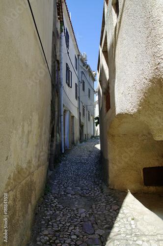 Fototapeta Narrow street in Historic center of Vrbnik on Krk Island in Croatia