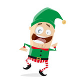 happy dancing christmas elf clipart - 181844533
