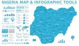 Nigeria Map - Info Graphic Vector Illustration - 181846745
