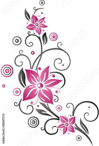 fototapeta sommer frame bl tter laub ranke pink set. Black Bedroom Furniture Sets. Home Design Ideas