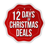 12 days of Christmas deals label or sticker - 181849976