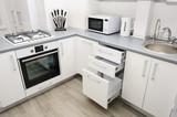 Modern white kitchen - 181850136