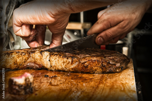Foto op Canvas Steakhouse Steak 3