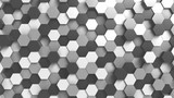 Abstract black and white hexagonal background, 3D rendering - 181852969