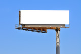 Large Billboard On Clear Blue Sky - 181853707
