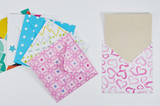 set of cute envelopes with decorated paper - 181860362