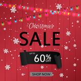Christmas sale design template. Vector illustration - 181869706