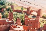 amazing ouarzazate kasbah fortification, morocco - 181875973