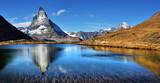Mt Matterhorn reflected in Riffelsee Lake Zermatt Canton of Valais - 181885198