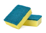 Dishwashing sponge on white background - 181894757