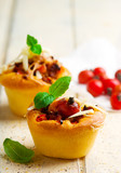 pizza muffins bolognese sauce. selective focus - 181896174