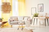 Warm bohemian living room