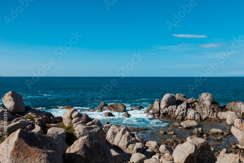Foto op Canvas Tropical strand coastal landscape of Sardinia, cliff