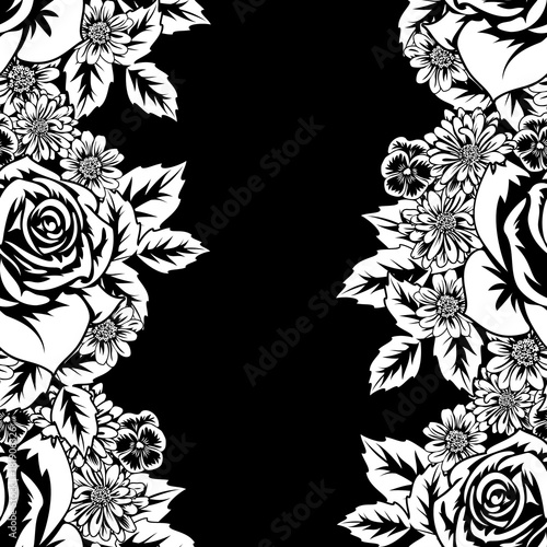 seamless monochrome pattern  - 181906326