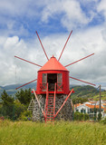 Historic windmill near Horta, Faial, Azores - 181913193
