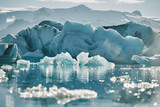 Beautiful cold landscape picture of icelandic glacier lagoon bay, - 181919907