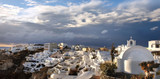 Santorini island in Greece, Oia village, day after the storm - 181924542