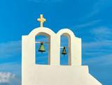 Belfry in Oia village, Santorini island, Greece - 181925141