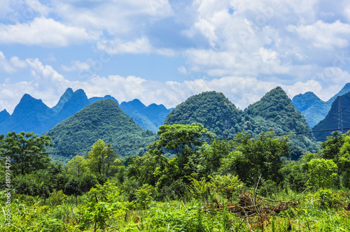 Fotobehang Zomer Beautiful countryside scenery in summer