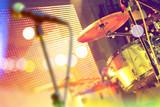 Bateria en el escenario.Concierto y eventos.Festival de música.Entretenimiento y actividades de ocio.Actuación de la banda de música - 181940769