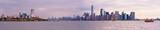 Ellis island and Manhattan skyline panorama, New York City - 181952511