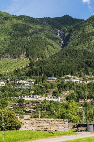 Foto op Plexiglas Khaki Odda town, Norway