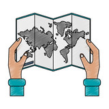 World map isolated icon vector illustration graphic design