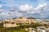 A picturesque cloudy scenery in Acropolis of Athens, Greece - 181976588