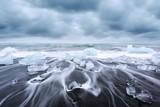 Iceberg pieces on Diamond beach - 181978354