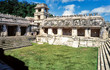 The Palace, Patio of the Captives, Palenque Archaeological Park, UNESCO World Heritage Site, Palenque, Chiapas, Mexico, North America