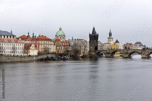 View on Prague Old Town with Charles Bridge, Czech Republic
