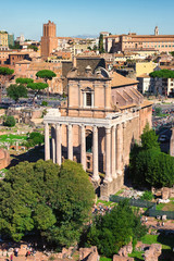 Temple d'Antonin et Faustine in the forums, Rome, Italy