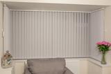 Designer Square Bay Window Vertical Blind - 181988953