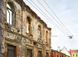 old damaged building