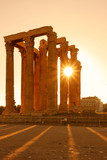 Columns in Athens at sundown - 181993969